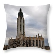 Boston Avenue Methodist Church Throw Pillow