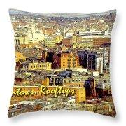 Boston Beantown Rooftops Digital Art Throw Pillow