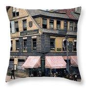 Boston: Bookshop, 1900 Throw Pillow