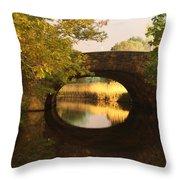 Boston Bridge Reflections Throw Pillow