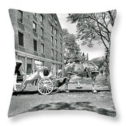 Boston Buggy Throw Pillow