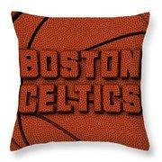 Boston Celtics Leather Art Throw Pillow