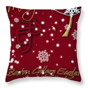 Boston College Eagles Christmas Card Throw Pillow
