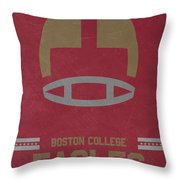 Boston College Eagles Vintage Football Art Throw Pillow