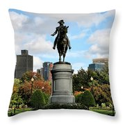 Boston Common Throw Pillow by DJ Florek