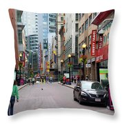 Boston Downtown Crossing Throw Pillow