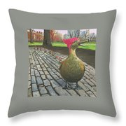 Boston Ducklings Getting Their Pink On Throw Pillow
