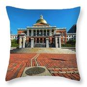 Boston Freedom Trail To State House Boston Ma Throw Pillow