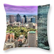 Boston From Above Throw Pillow