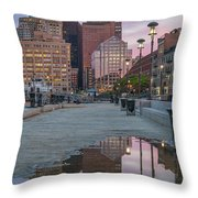Boston From Long Wharf Throw Pillow