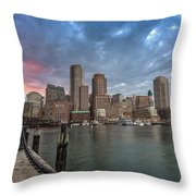 Boston Harbor  Throw Pillow