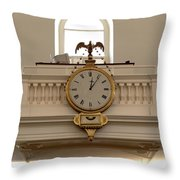 Boston Historical Meeting Room Clock Throw Pillow