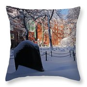 Boston Ma Granary Burying Ground Tremont St Grave Stones Throw Pillow