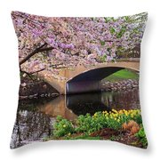 Boston Ma Spring Tree On The Charles River Esplanade Boston Ma Throw Pillow