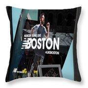Boston Marathon Window Display Throw Pillow