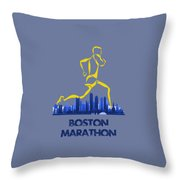 Boston Marathon5 Throw Pillow