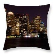 Boston Massachusetts - Panoramic Throw Pillow