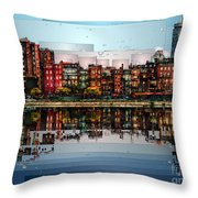Boston, Massachusetts Throw Pillow