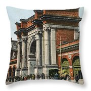 Boston: North Station Throw Pillow