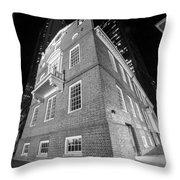 Boston Old State House Boston Ma Angle Black And White Throw Pillow
