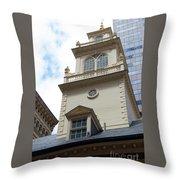 Boston Old State House Throw Pillow