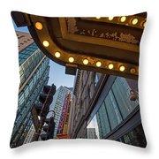Boston Paramount Theater District Throw Pillow