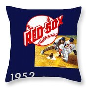 Boston Red Sox 1952 Yearbook Throw Pillow