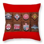 Boston Red Sox World Series Emblems Throw Pillow