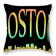 Boston Skyline 10 Throw Pillow