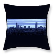 Boston Skyline From Quincy Throw Pillow