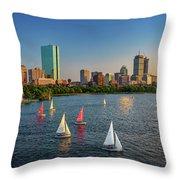Boston Skyline Summer 2018 Throw Pillow