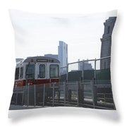 Boston Subway The T Throw Pillow
