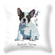 Boston Terrier Pop Art Throw Pillow