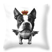Boston Terrier, The King Throw Pillow