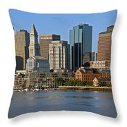 Boston Waterfront Throw Pillow