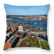 Boston's North End Throw Pillow