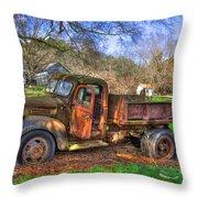 Boswell 1947 Dump Truck Farm Scene Throw Pillow