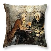 Boswell And Johnson, 1786 Throw Pillow