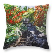 Botanic Garden Merano 1 Throw Pillow