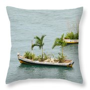 Botanic Garden On The Water Throw Pillow