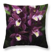Botanic Garden Orchid Bouquet 5 Throw Pillow
