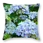 Botanical Art Prints Floral Hydrangea Flower Garden Baslee Throw Pillow