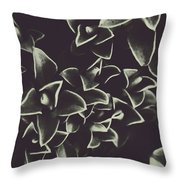 Botanical Blooms In Darkness Throw Pillow
