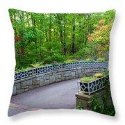 Botanical Bridge Throw Pillow
