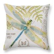 Botanical Dragonfly-jp3418b Throw Pillow
