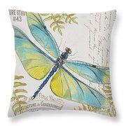 Botanical Dragonfly-jp3423b Throw Pillow