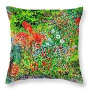 Botanical Garden Throw Pillow