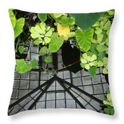 Botanical Illusions Throw Pillow