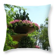 Botanical Sky Throw Pillow