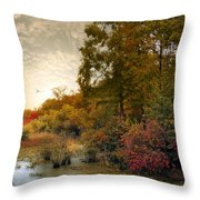Botanical Wetlands Throw Pillow